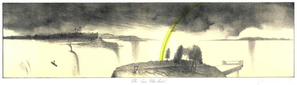 OH! Que belos dias Litografia, 25 x 71 cm, 1980